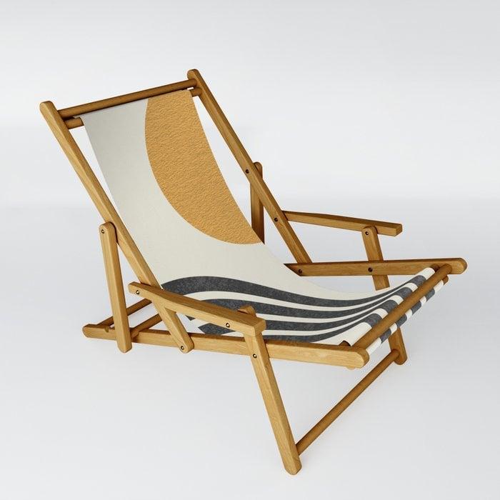 MoonlightPrint Sun & Rainbow Sling Chair