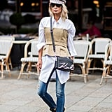 With a corset top and boots for a twist