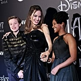 Shiloh and Zahara joined their mom at the European premiere of Maleficent: Mistress of Evil in October 2019.