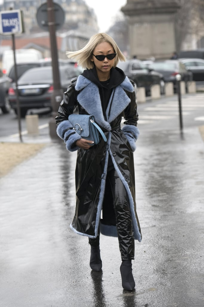 Pair Your Sock Boots With Leather Pants and a Matching Coat