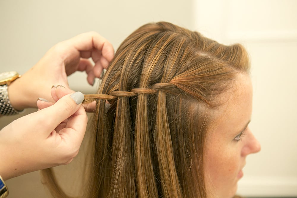 Easy waterfall braid tutorial popsugar beauty ccuart Image collections
