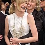 Portia de Rossi got a hug from Ellen DeGeneres on the red carpet at the April 2006 Emmys.
