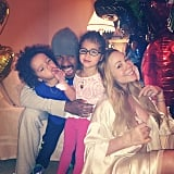 Mariah Carey and Nick Cannon celebrated Father's Day a little early with Monroe and Moroccan. Source: Instagram user mariahcarey