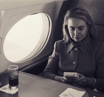 #TBT did you know my mom was a gamer? Here she is taking a rare moment to relax by playing with a Game Boy on Air Force One.