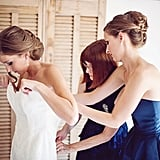 Putting the Wedding Dress On