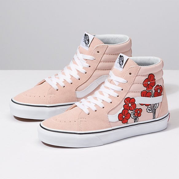 b34c1a75980f39 Disney x Vans Sk8-Hi in Mickey Mouse and Minnie Mouse Pink