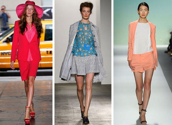 Runway Trend from Spring Summer 2012 New York Fashion Week: Short Suits, as seen at Rachel Zoe, Proenza Schouler and more!
