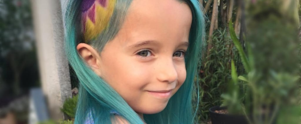 """This Mum Doesn't Care If You Approve of Her 6-Year-Old's """"Unicorn Hair"""""""