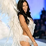 Adriana Lima enjoyed a good laugh on the catwalk.