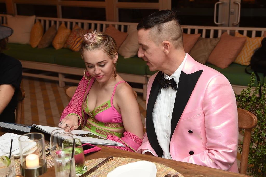Miley Cyrus and Jeremy Scott  at the Moschino Party With Barbie