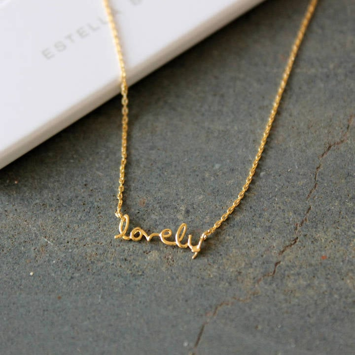 """The Little House Shop """"Lovely"""" Gold Plated Necklace (£22)"""