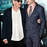 Robert Pattinsonand  David Cronenberg  had a laugh together on the red carpet at the Cosmopolis premiere.
