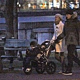Tom and Gisele Take Their Boys For a Christmas Stroll in Boston