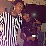 Wiz Khalifa and Kelly Rowland got prepped to perform on Late Night With Jimmy Fallon. Source: Twitter user KELLYROWLAND