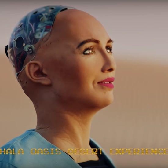الروبوت صوفيا تزور أبوظبي