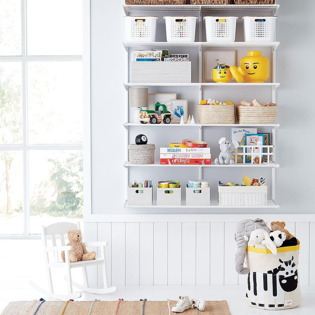 Elfa Classic 4' Kids Playroom Shelving