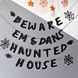 Allihopa Personalised Halloween Haunted House Bunting