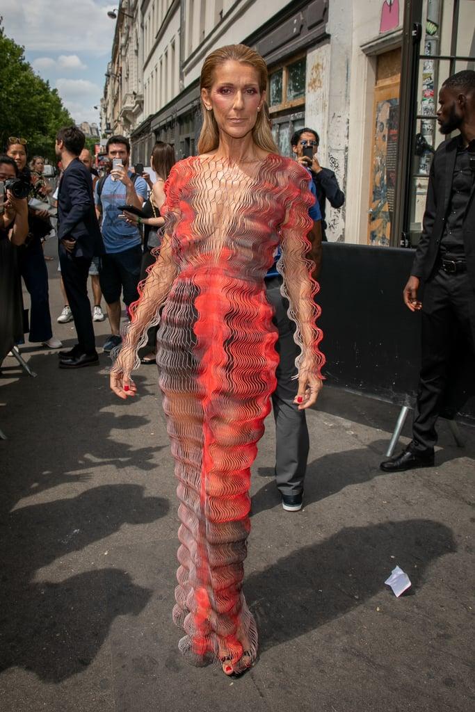 Looking like a work of art, Celine pulled off this fantastical Iris van Herpen effortlessly.