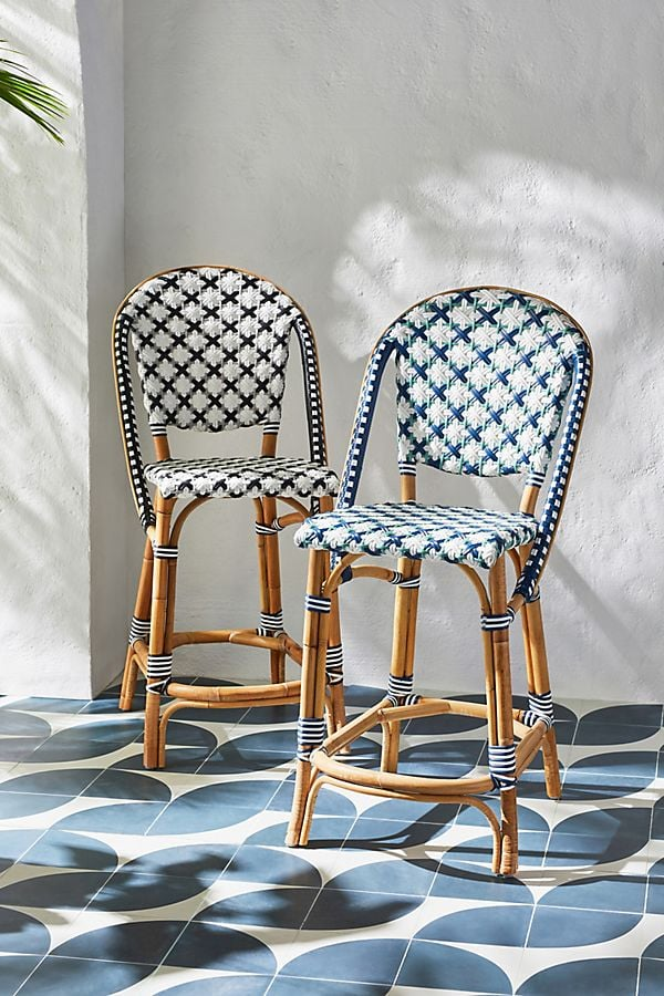 Woven Counter Stools Anthropologie Outdoor Summer