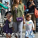 Sarah Jessica Parker spent the day shopping with her twins in NYC.