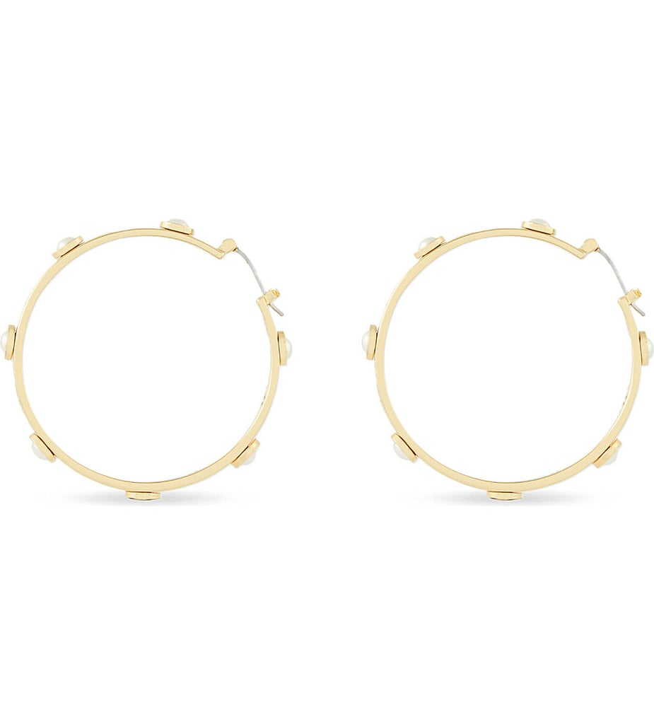 Tory Burch Pearl Hoop Earrings