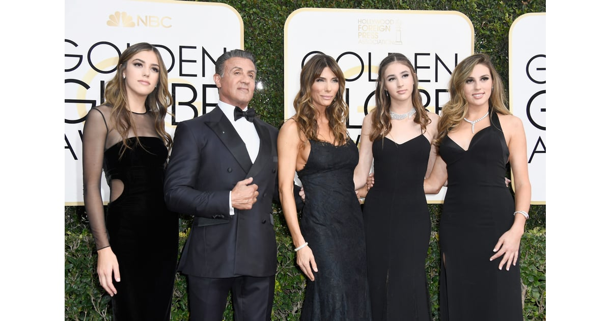 Sylvester Stallone and Family | 2017 Golden Globes Red ...