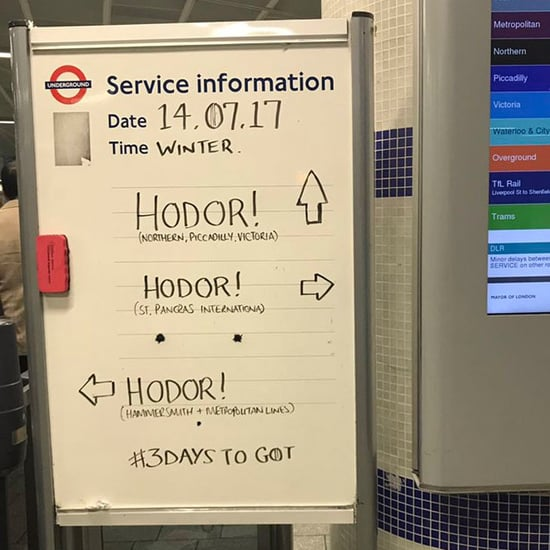King's Cross Rail Station Game of Thrones Signs