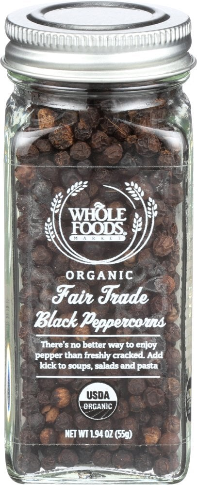 Organic Fair Trade Black Peppercorns