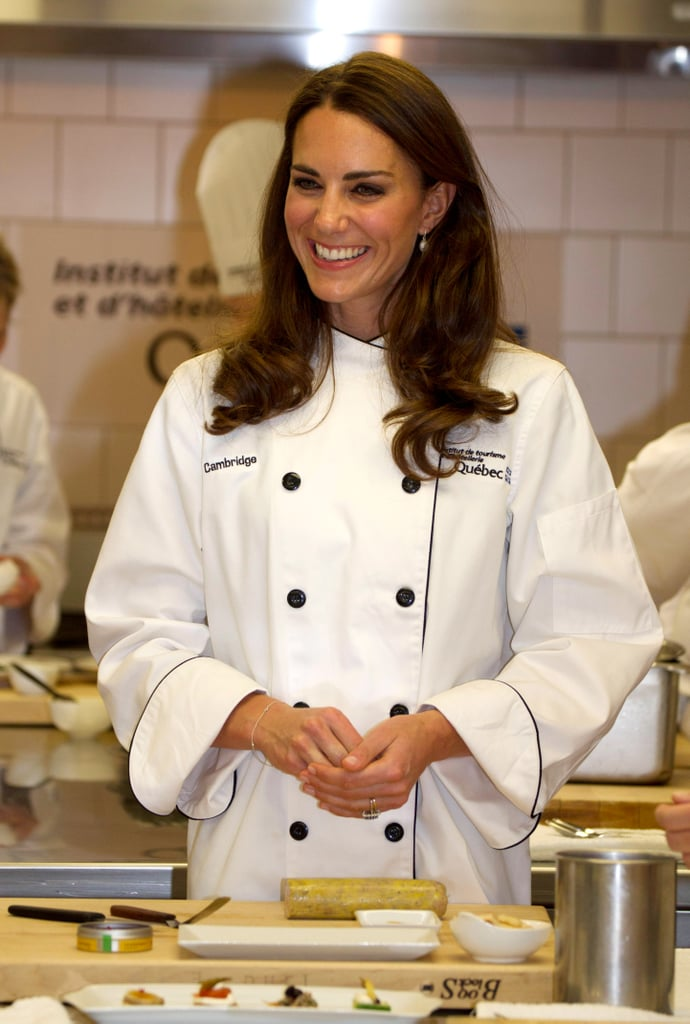 In July 2011, Kate Middleton showed off her culinary skills during a cooking workshop at the Institut de Tourisme et d'Hotellerie in Quebec.