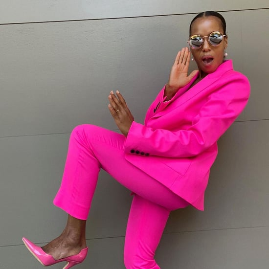 Celebrities in Argent x Supermajority Pink Suit on Instagram
