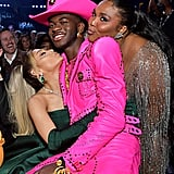 Lizzo and Lil Nas X at the 2020 Grammys