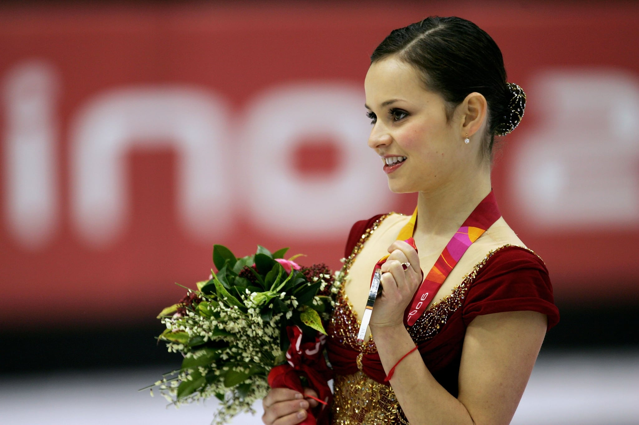 TURIN, ITALY - FEBRUARY 23:  Sasha Cohen of the United States wins the silver medal in the women's Free Skating program of figure skating during Day 13 of the Turin 2006 Winter Olympic Games on February 23, 2006 at Palavela in Turin, Italy.  (Photo by Robert Laberge/Getty Images)