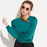 k/lab Green Crop Sweatshirt