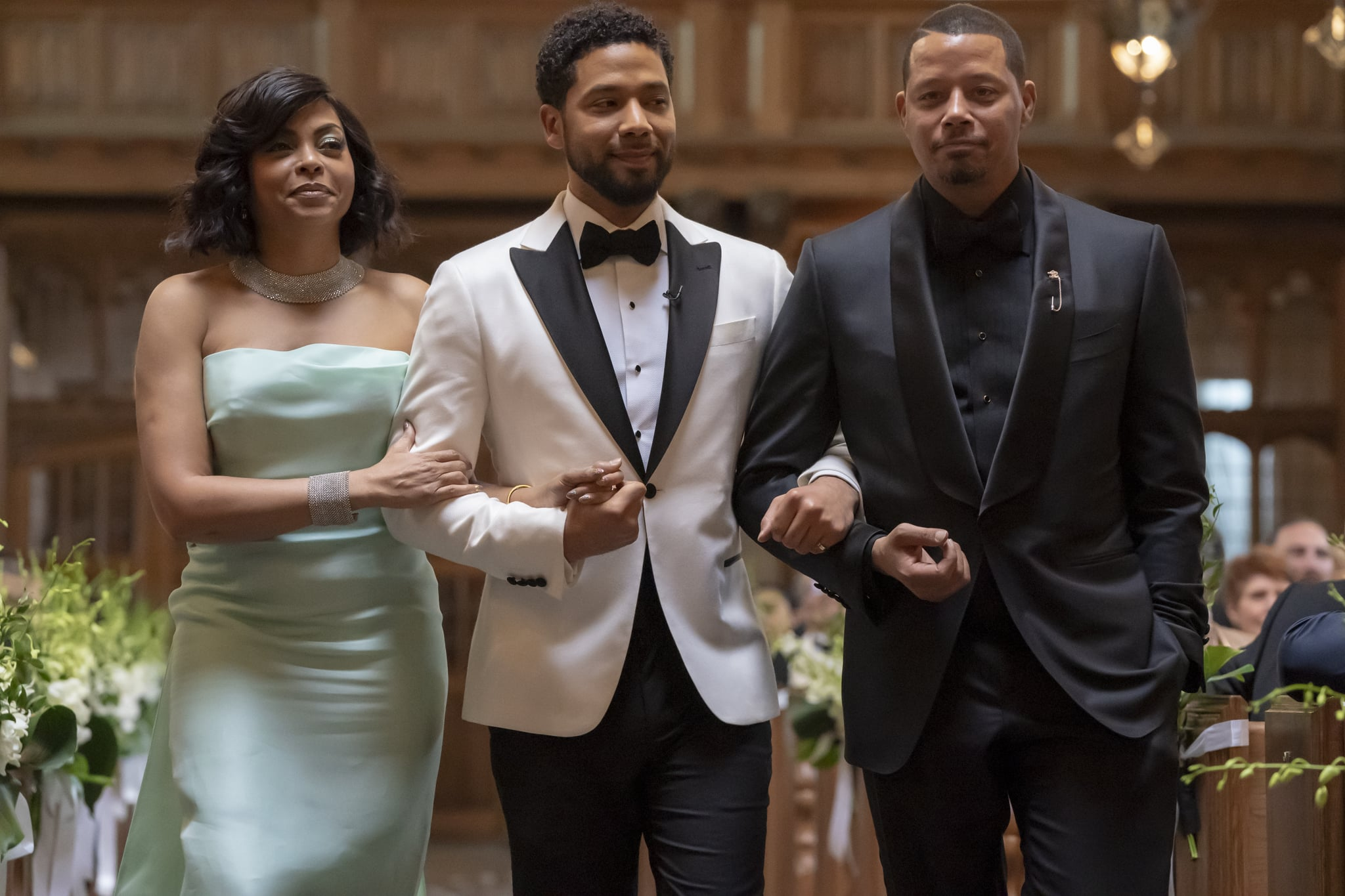 EMPIRE: L-R: Taraji P. Henson, Jussie Smollett and Terrence Howard in the