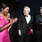 Pictured: Angela Bassett, Alfonso Cuarón, and Javier Bardem