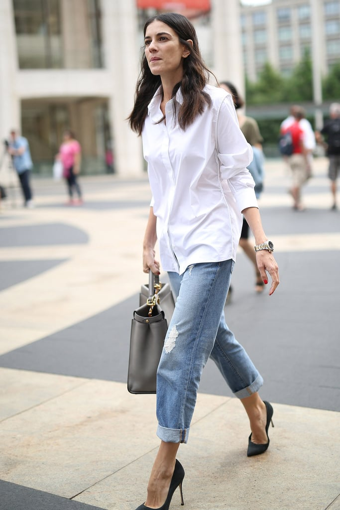 Untucked With Boyfriend Jeans Fashionable Ways To Style