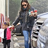 Jennifer Garner held hands with her middle child, Sera Affleck.