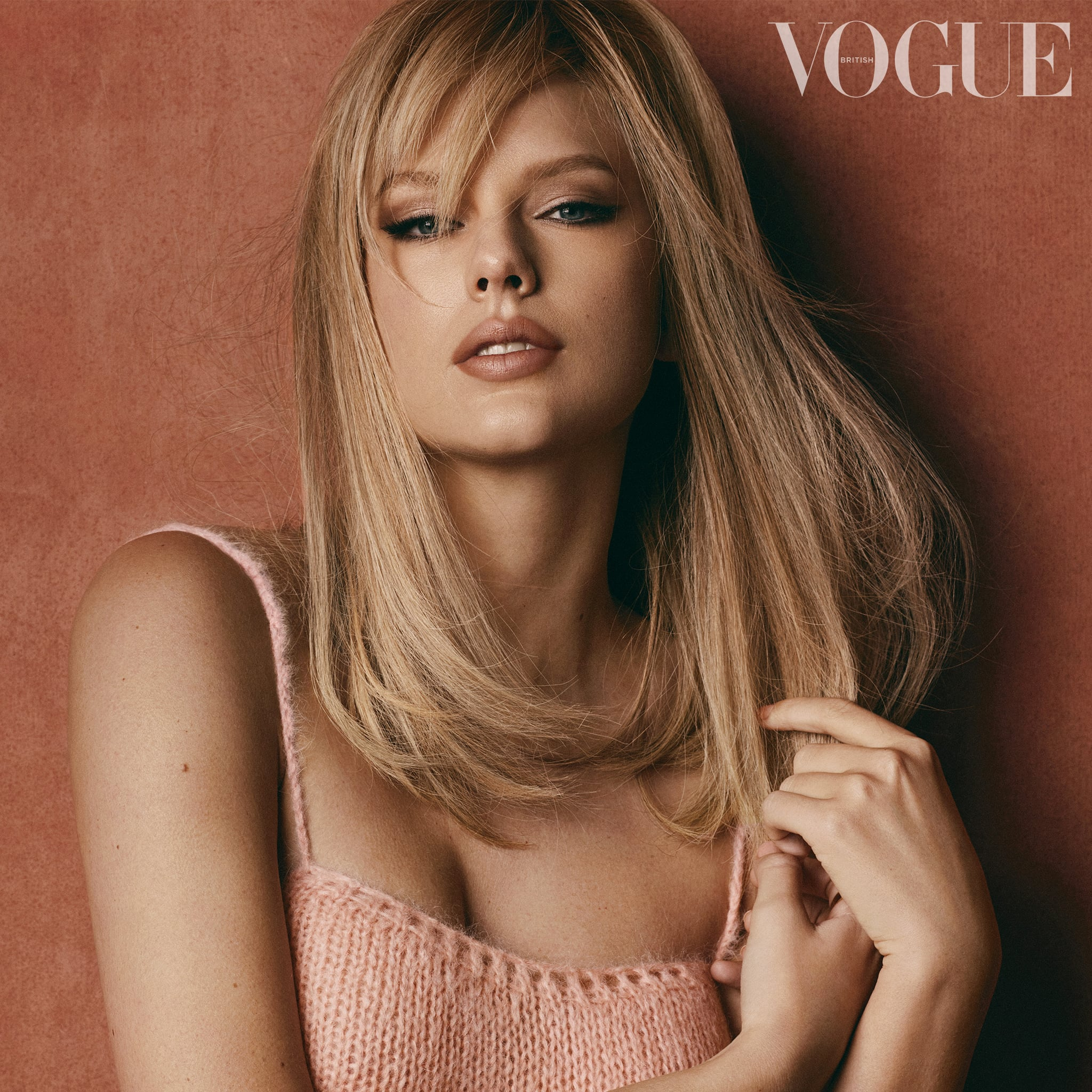 Taylor Swift S Side Bangs On British Vogue Cover January Popsugar Beauty
