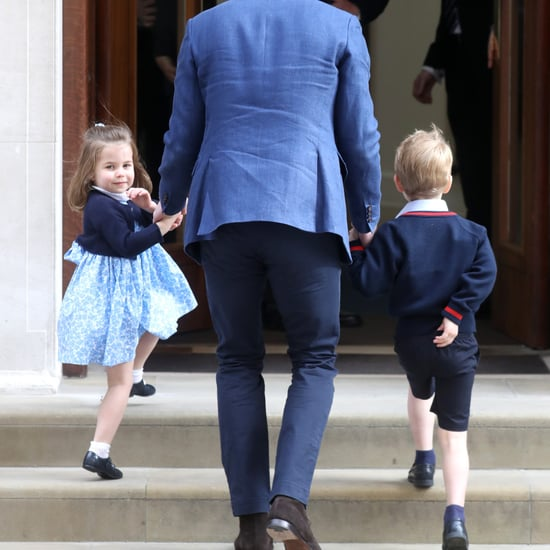 Princess Charlotte Waving to Press April 2018