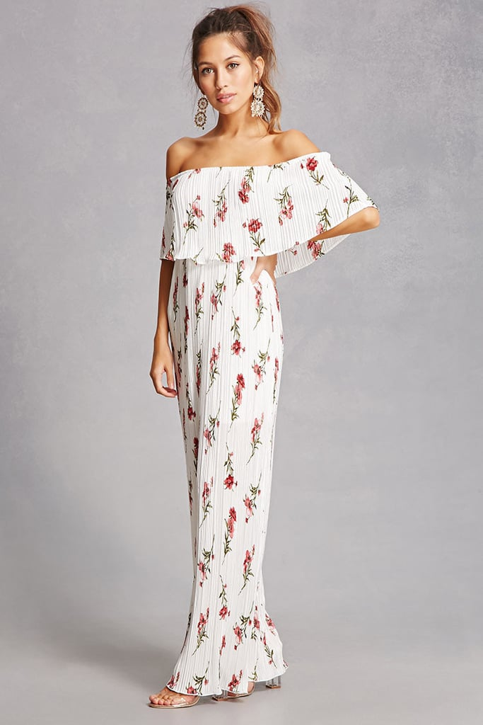 82dd1ae72ca Forever 21 Off-the-Shoulder Maxi Dress