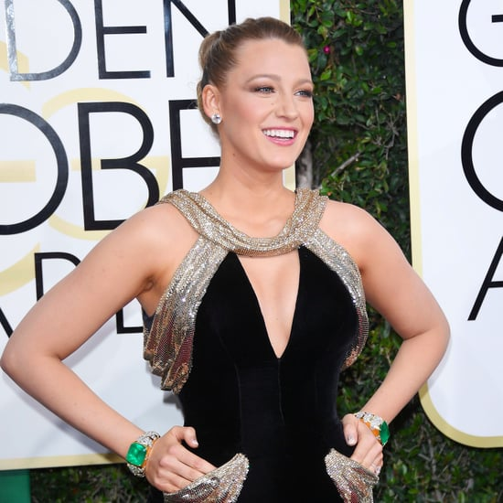 Blake Lively's Versace Dress at Golden Globes 2017