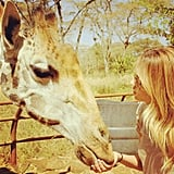 And she made a friend while on holiday.  Source: Instagram user laurenconrad