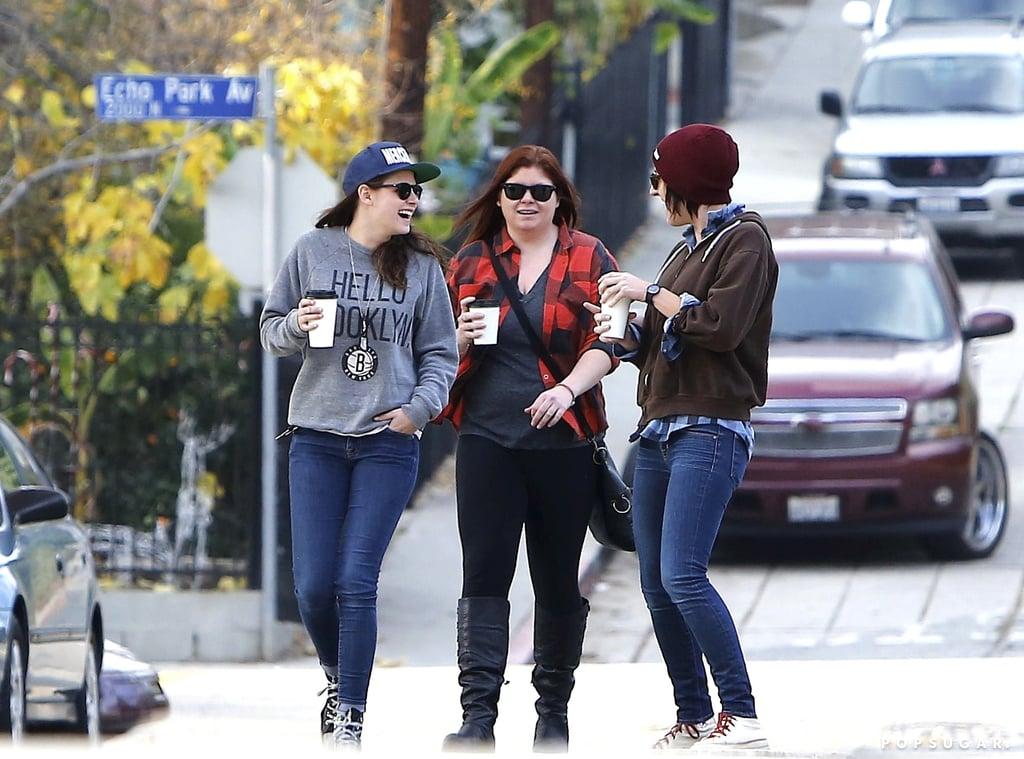 Kristen Stewart looked like she was in a happy mood in LA.