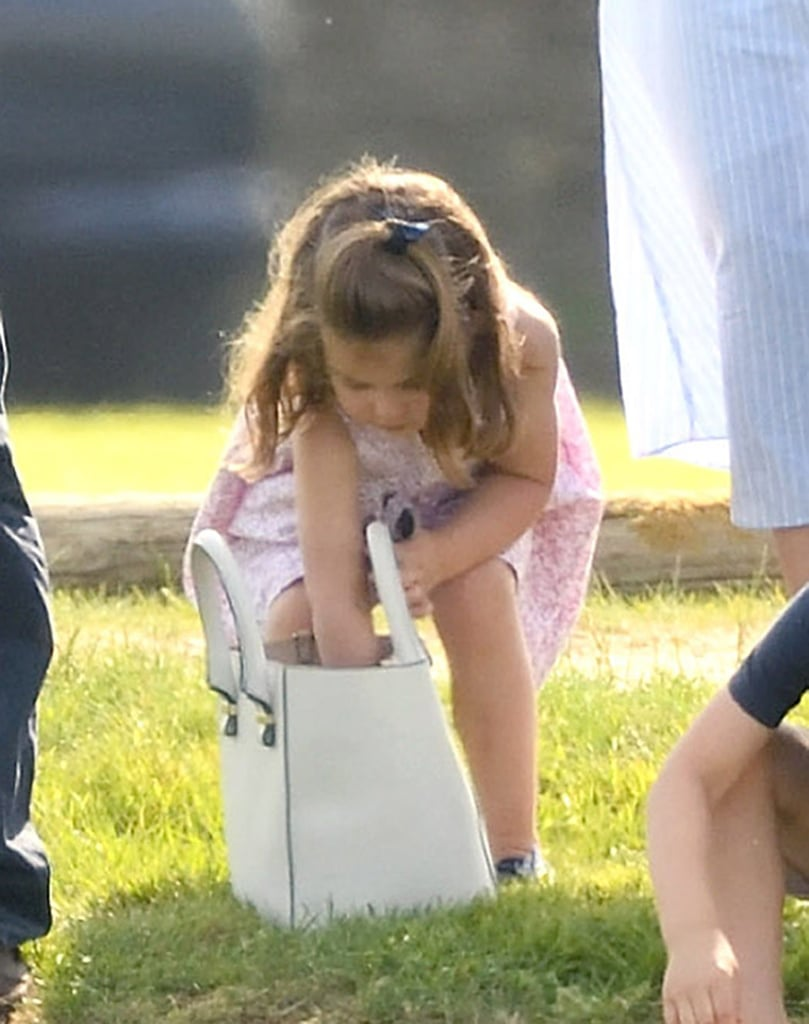 Princess Charlotte Going Through Kate Middleton's Bag