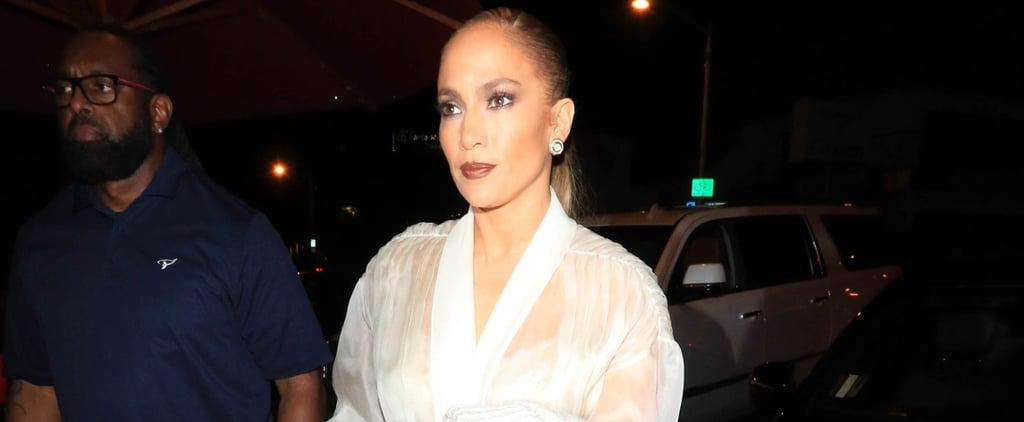 Jennifer Lopez Sheer White Top