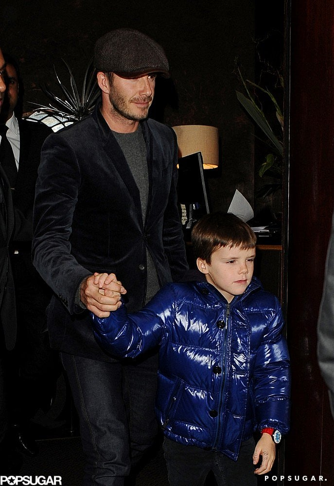 In February, Cruz held on to dad David Beckham in London after a dinner with friends.