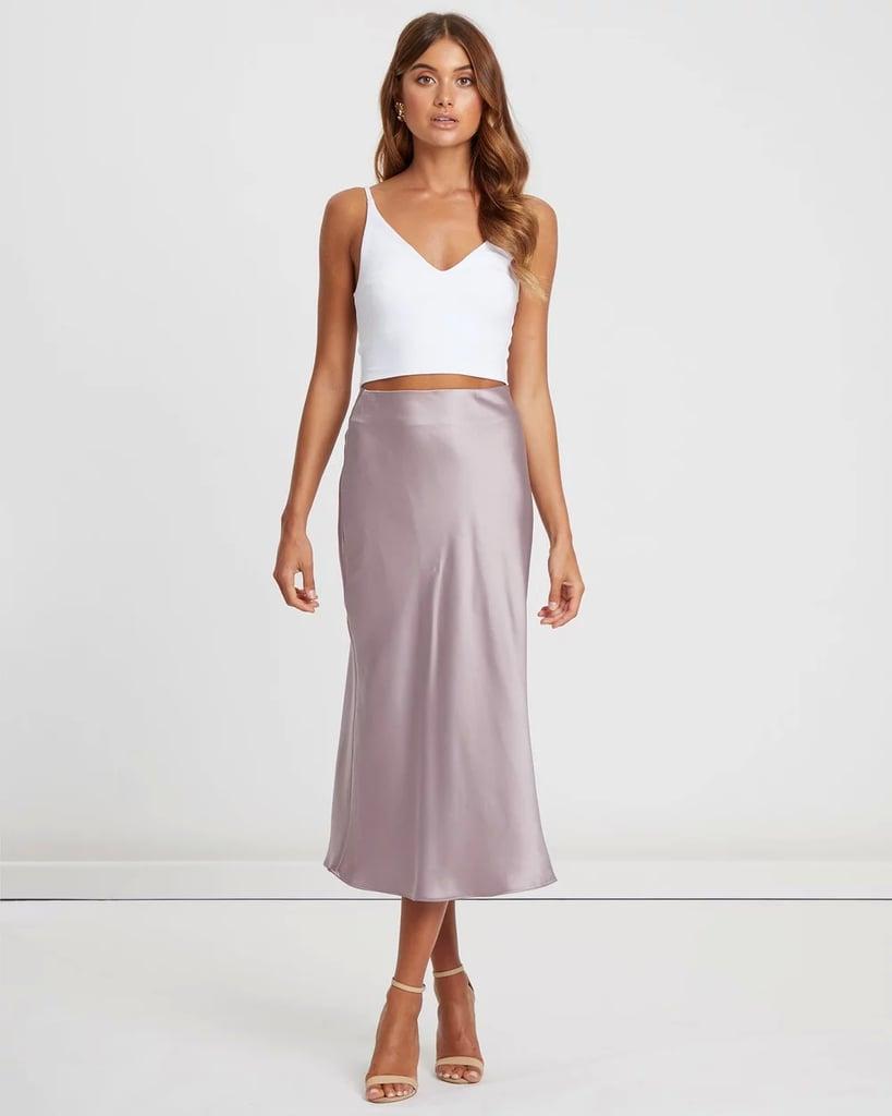 Chancery Merrie Slip Midi Skirt