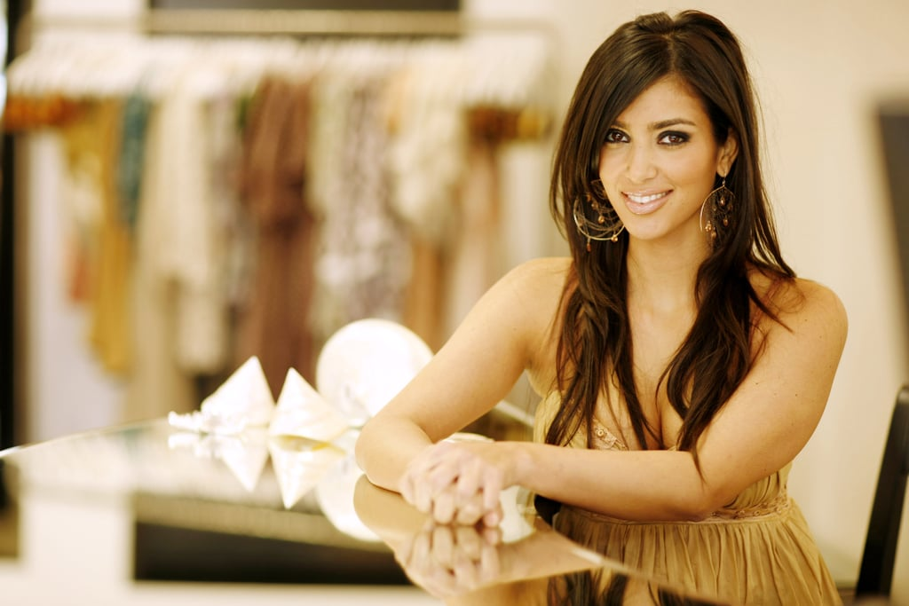 Kim posed for a portrait session at her Dash store in LA in June 2006.