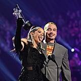 Rosalia and J Balvin at the 2019 MTV VMAs