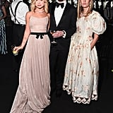 Lady Amelia Windsor, Jack Guinness, and Camille Charriere at the British Fashion Awards 2019